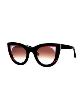 Thierry Lasry - Red And Black Wavvvy Sunglasses - Women