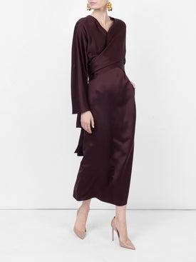 The Row - Clementine Dress Raisin - Women