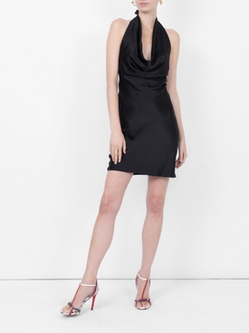 Linda halter mini dress BLACK