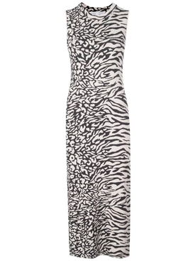 Proenza Schouler White Label - Black And White Animal Print Dress - Women