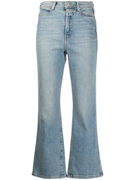 Blue kick-flare denim jeans