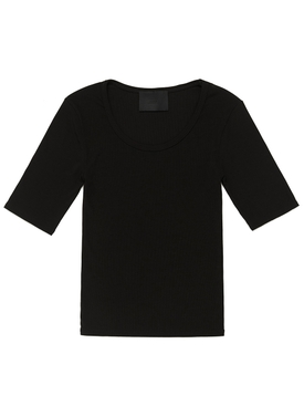 Short-Sleeve Ribbed T-shirt
