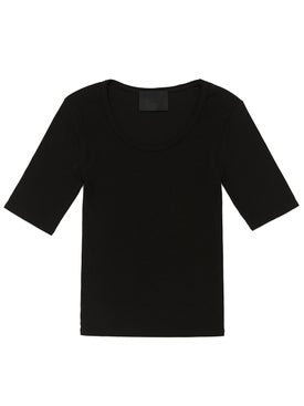 Wone - Short-sleeve Ribbed T-shirt - Women