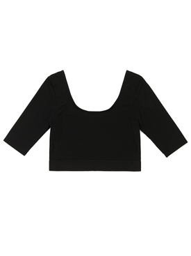 Boatneck Half sleeve performance cropped top