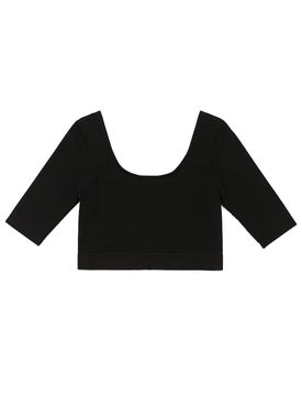 Wone - Boatneck Half Sleeve Performance Cropped Top - Women