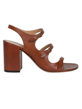 Brown Multi-Strap High Leather Sandals