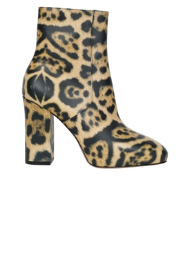 Leopard Print Leather Booties