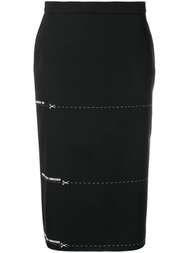 scissors cut line pencil skirt
