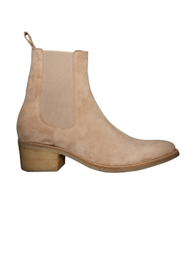 Pointed toe chelsea boot TAN