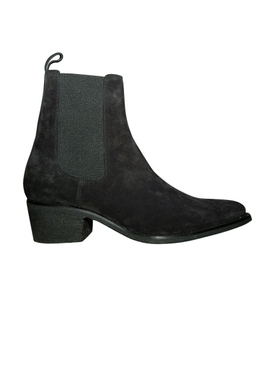 Pointed toe chelsea boot BLACK
