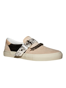 Bandana chain slip-on sneakers BEIGE/BLACK