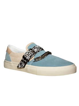 Bandana chain slip-on sneakers COBALT/NATURAL