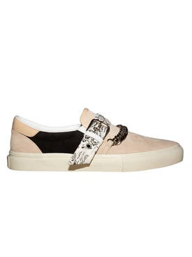 Amiri - Bandana Chain Slip-on Sneakers Beige/black - Men