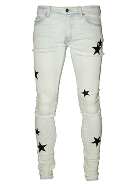 Leather Stars Stack Jeans BONE INDIGO