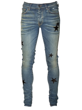 Amiri - Leather Stars Stack Jeans Deep Indigo - Men