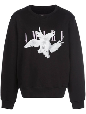 Dove print crewneck sweater