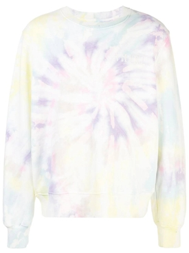 Tie-dye long-sleeve sweatshirt