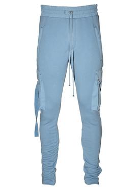 Slim fit cotton track pants COBALT