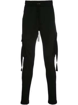 Slim fit cotton track pants BLACK