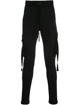 Amiri - Slim Fit Cotton Track Pants Black - Men