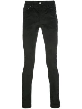 Amiri - Skinny Velour Stack Pants Black - Men