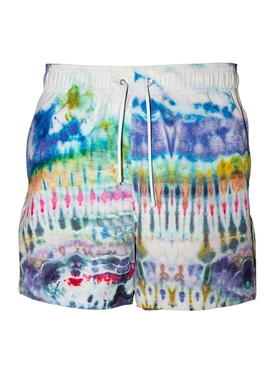 Amiri - Multicolored Tie-dye Swim Trunks - Men