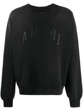 Amiri - Black Tonal Logo Sweatshirt - Men