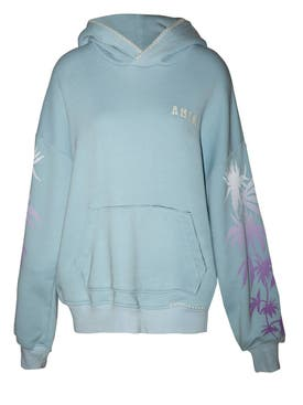 Amiri - Oversized Eternal Happiness Hoodie Light Blue - Women