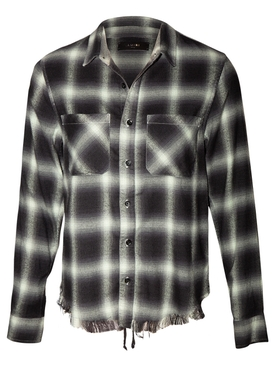 Green plaid buttoned shirt