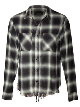 Amiri - Green Plaid Buttoned Shirt - Women