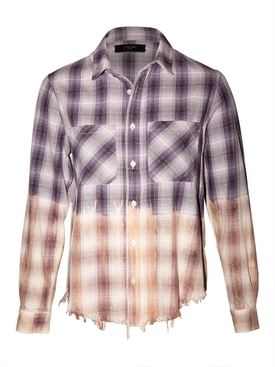 Lurex Ombre Plaid Shirt, Purple