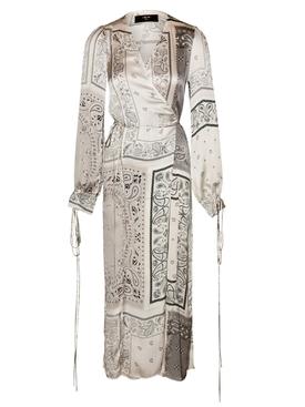Silk bandana print dress