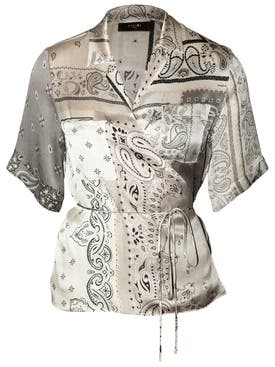 Amiri - Silk Bandana Print Top - Women