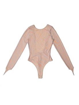 Knitted Bodysuit, beige blue