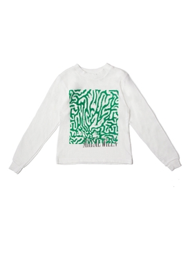 Long sleeve t-shirt, green white