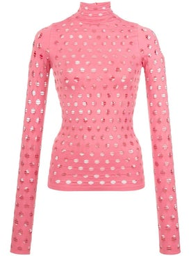 Maisie Wilen - Perforated Turtleneck Top - Women
