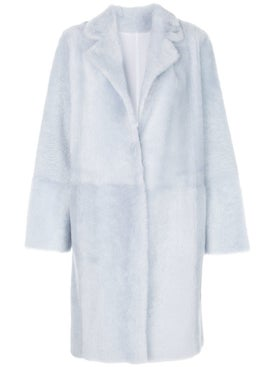 Yves Salomon - Faux Fur Overcoat Blue - Long