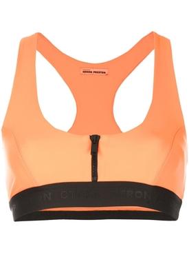 zip-up bra top ORANGE