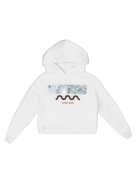 Holographic wave hoodie