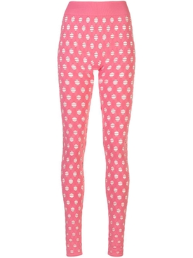 Maisie Wilen - Pink Perforated Leggings - Women