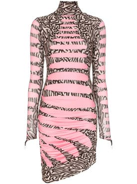 Maisie Wilen - Pink Knitted Turtleneck Dress - Women