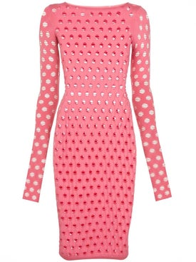 Maisie Wilen - Pink Perforated Midi Dress - Women