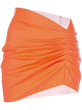 Maisie Wilen - Orange Ruched Mini Skirt - Women