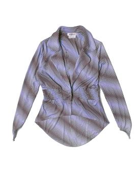 Jersey blazer, purple brown