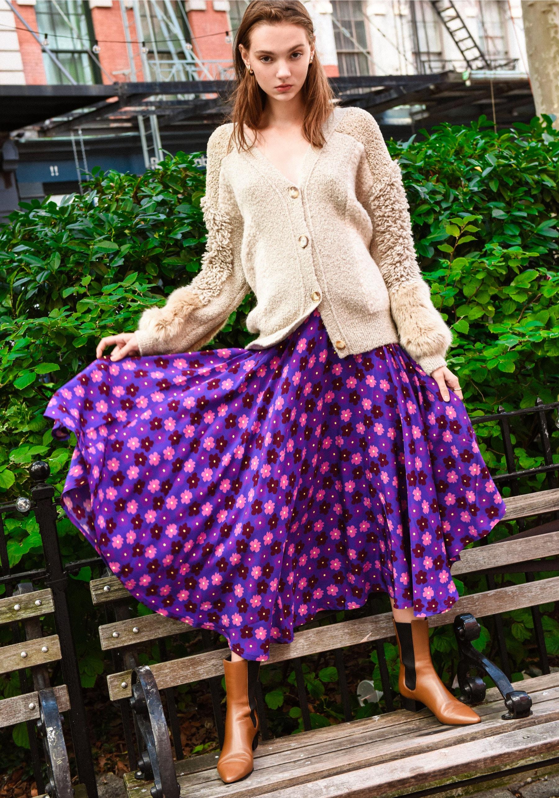 STELLA McCARTNEY Furry Fringed Cardigan – LHD French Riviera Skirt