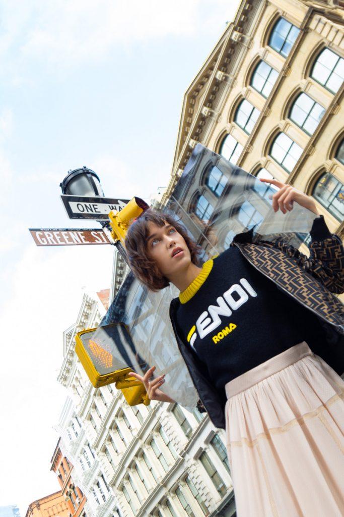 FENDI Monogram Bomber, FENDI Logo Print Jumper, FENDI Polka Dot Midi Skirt