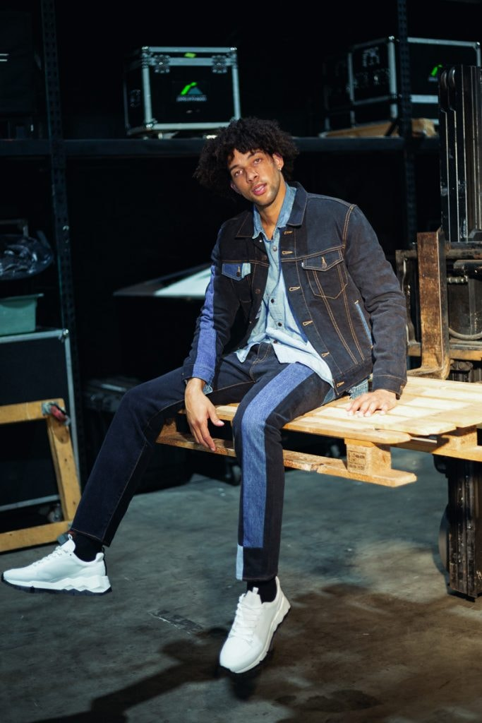 GOSHA RUBCHINSKIY X LEVIS Denim Jacket, GOSHA RUBCHINSKIY X LEVIS Pants, VETEMENTS X LEVIS Denim Shirt, PIERRE HARDY Street Life Sneakers