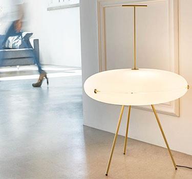 Designer Gio Ponti Luna Horizontal Lamp