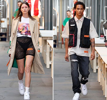 Designer Heron Preston Men and Women's Collection