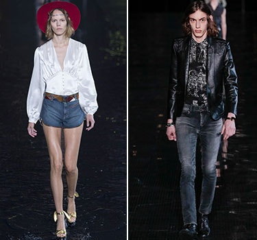 Designer Saint Laurent Men and Women's Collection